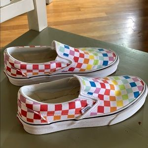 Vans limited edition rainbow color